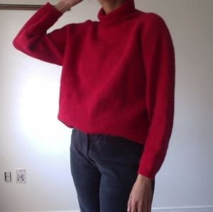 Vintage Red Wool Turtleneck Sweater